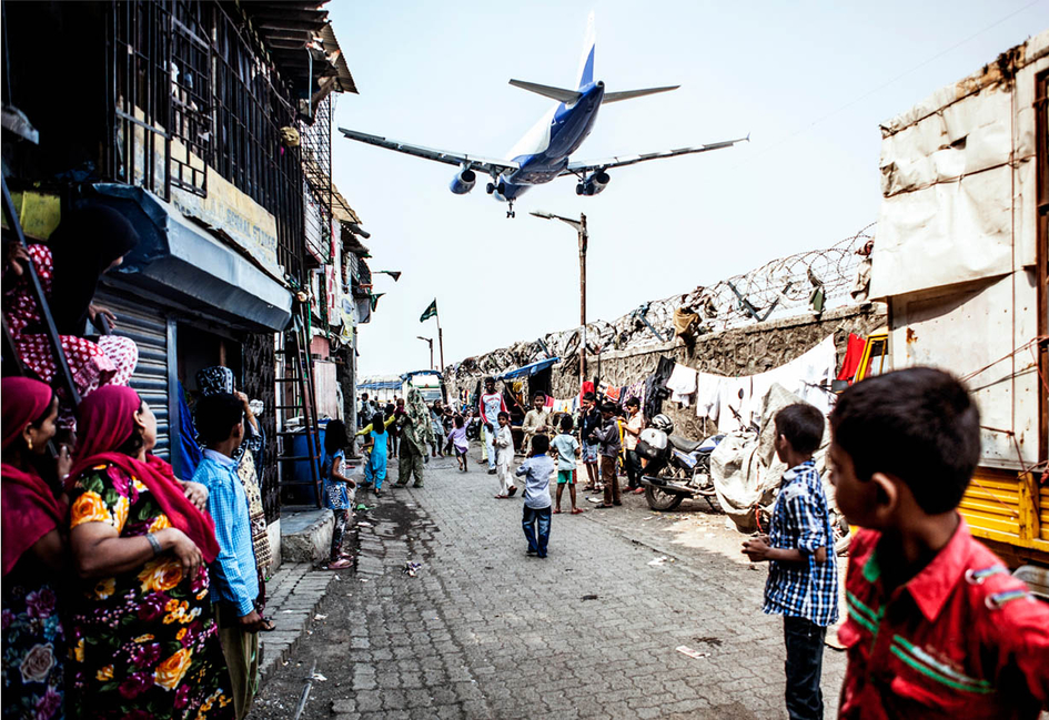 International Airport Mumbai, Slum