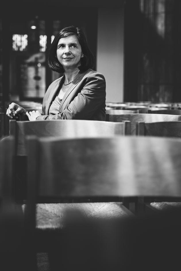 Katrin Göring-Eckardt; die grünen, Strassen Wahlkampf, Köln, In der Antoniter Kirche Köln